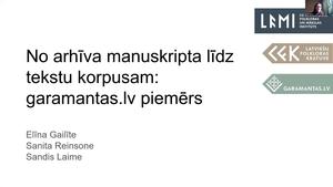 Elīna Gailīte, Sandis Laime, Sanita Reinsone